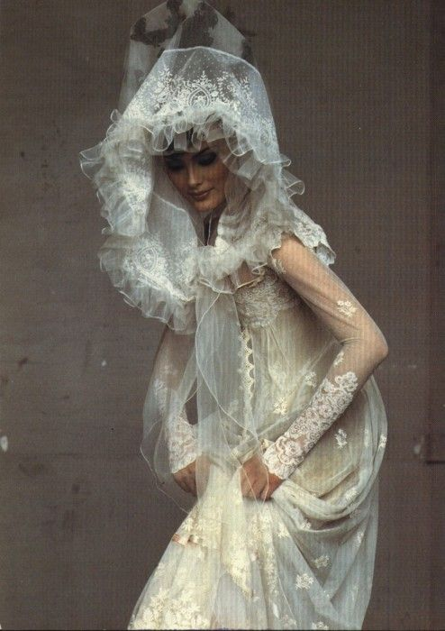 Shalom Harlow in Christian Lacroix by Irving Penn