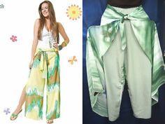 Alinhavos de Moda - Mania de inventar moda.: Calça Pareô, Sarongue ou Envelope?