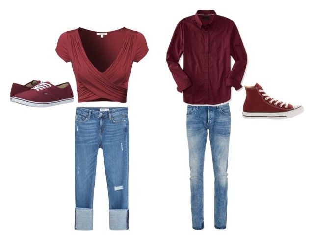"""""""Mr and Ms"""" by rbanahi on Polyvore featuring Denham, Zara, Aéropostale, Vans and Converse"""
