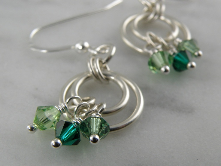 ring earrings. Love these and now is the time to try all things crystal since we have our 99 cent sale going on!