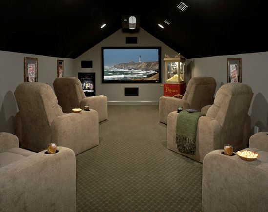 1000+ Ideas About Attic Media Room On Pinterest | Basement Ideas