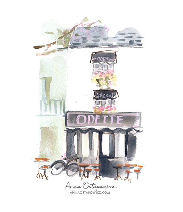 Odette, Paris , Illustration Anna Ostapowicz