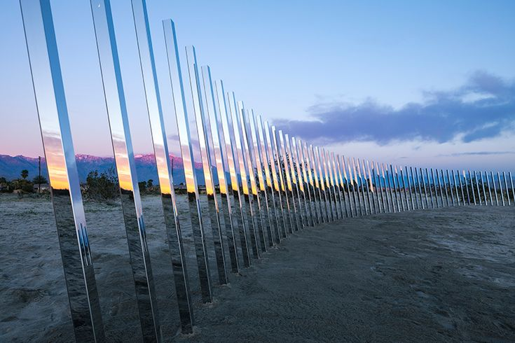 phillip k. smith III's 'circle of land and sky' mirrors abstract views of the california desert