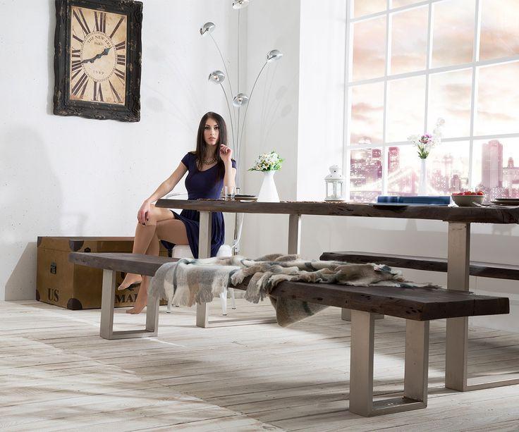 Elegant  Tabak Platte cm Gestell schmal Esstische Baumkantenm bel Massivholzm bel Massivholz Baumkante Wolf Live Edge online kaufen bei
