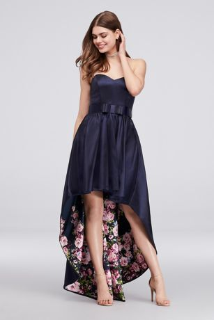 1d5d4e3a6477 How fun is this peek-a-boo printed prom dress?1 | Mikado Sweetheart Ball  Gown with Floral Lining 5930GR1B