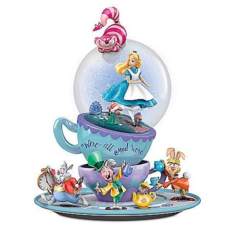 Disney Alice In Wonderland We're All Mad Here Glitter Globe