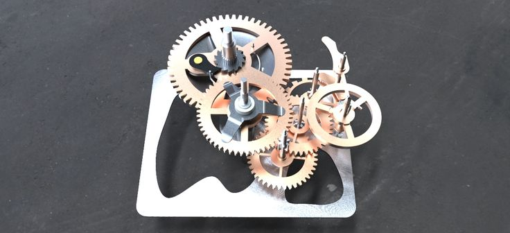 Mechanical watch - STEP / IGES - 3D CAD model - GrabCAD
