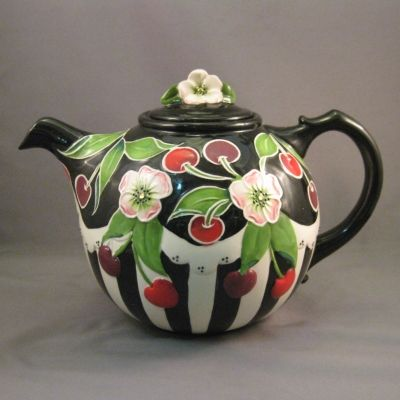Cherry round teapot - Icing on the Cake