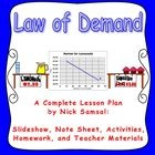 As price decreases, it provides greater incentives to consumers to purchase more goods and services.  This full lesson plan introduces students to this concept, known as the Law of Demand.