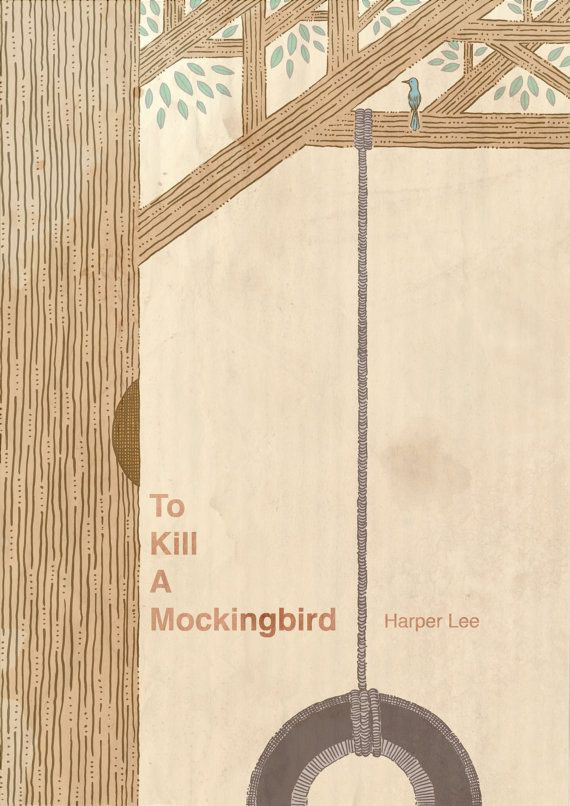 To Kill A Mockingbird art print recycled paper by MikeMedaglia
