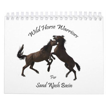 #Wild Horses of Sand Wash Basin  Colorado Calendar - #office #gifts #giftideas #business