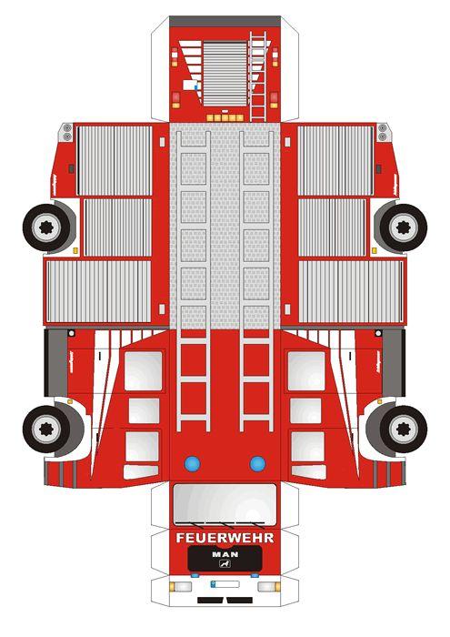 Feuerwehrauto Druckvorlage                                                                                                                                                                                 Mehr