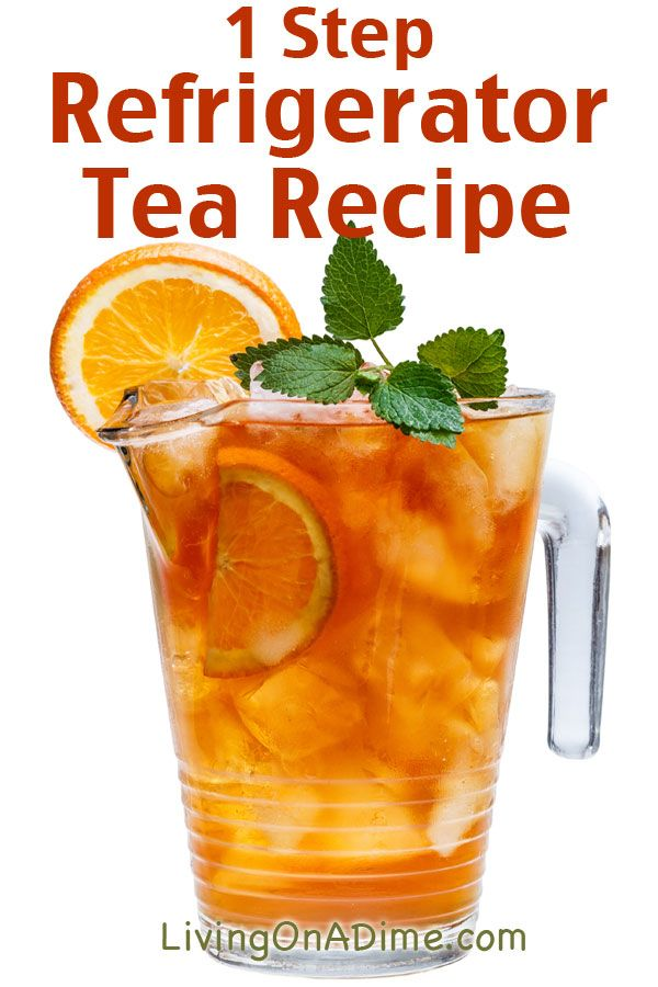 1 Step Refrigerator Tea Recipe - 13 Homemade Flavored Tea Recipes