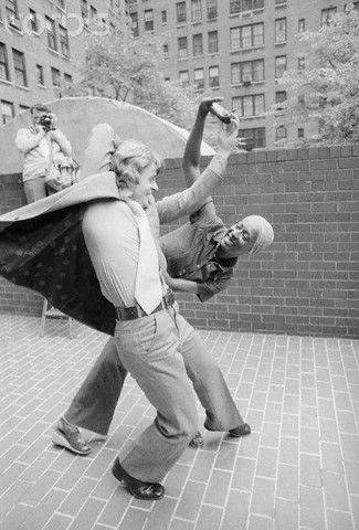 Mikhail Baryshnikov and Judith Jamison, star of the Alvin Ailey City Center Dance Theater, 1976