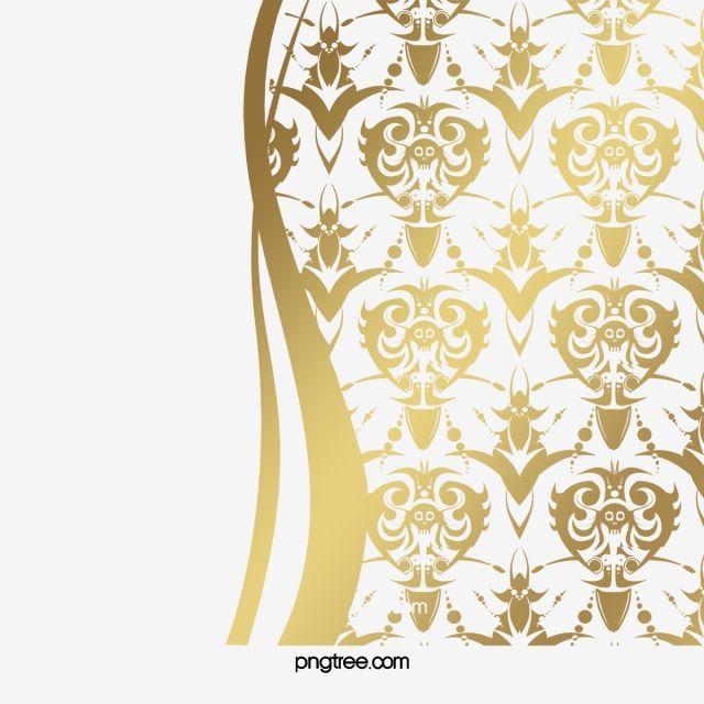 Euporean Pattern Wall Decorative Motifs Euporean Pattern Wall Decorative Motifs Free Dig Gold Material Png Golden Clipart Europe Clip Art Pattern Wall Patterns