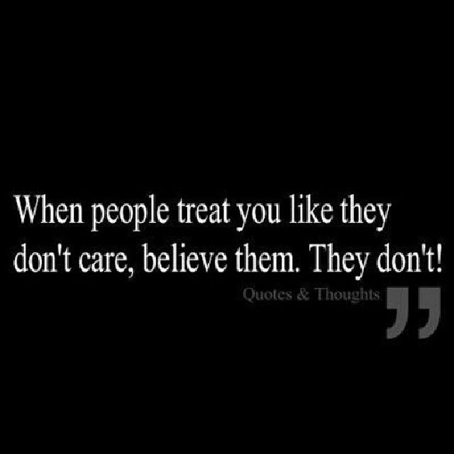 IF THE PERSON SHOWS LITTLE TO NO CARE REMEMBER ACTIONS SPEAKS LOUDER THAN WORDS. NOTHING YOU DO WILL MAKE SOMEONE THAT DOESN'T CARE OR LOVE YOU...CARE & LOVE YOU. THINK ABOUT THAT EVERY TIME YOU CRY TE…
