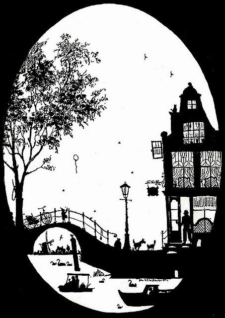 Grachtenhuis, silhouet