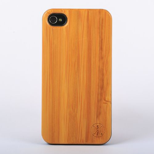 Bamboo Cabot Case - Black iPhone 4/4S -  Composed of a solid piece of bamboo with a polycarbonate shell, this unique case offers protection from harmful elements and scratches. Plus, 20% of the sale goes to charity and 1 tree is planted per product sold!