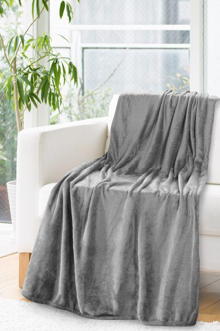 Tmavo sivá deka bez potlače