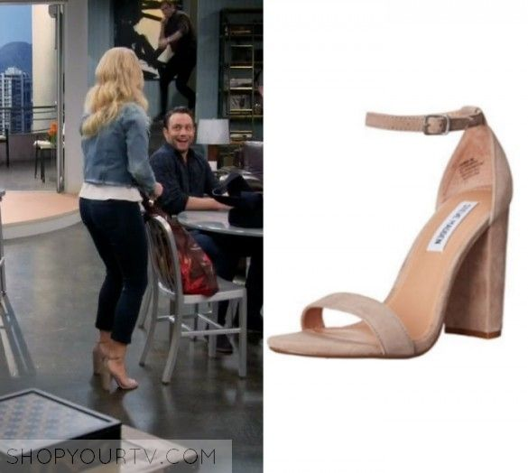 """Gabi Diamond (Emily Osment) wears these strappy suede beige heels in this  episode of Young & Hungry, """"Young & Vegas Baby"""" It [."""