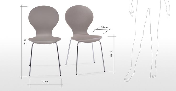 3 x Kitsch Grey Dining Room Chairs | made.com