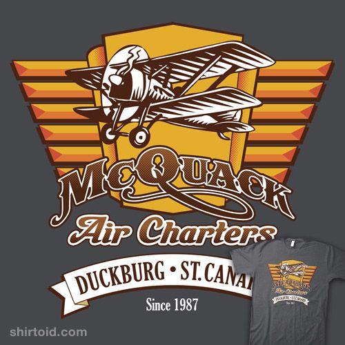 """McQuack Air Charters"" by EightballArt  --2.5 (women's t or unisex tank blue)"
