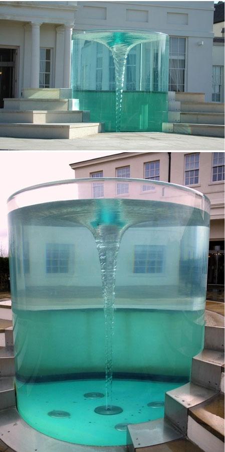 Artist William Pye, Vortex Water Sculpture Installation