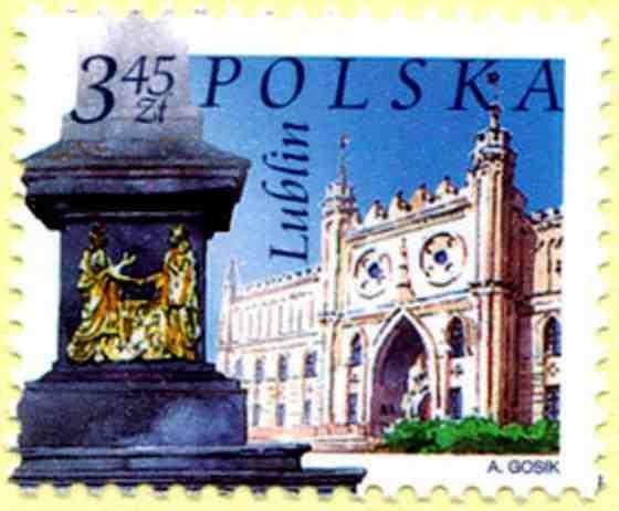 Zamek Lubelski na znaczku pocztowym Poczty Polskiej