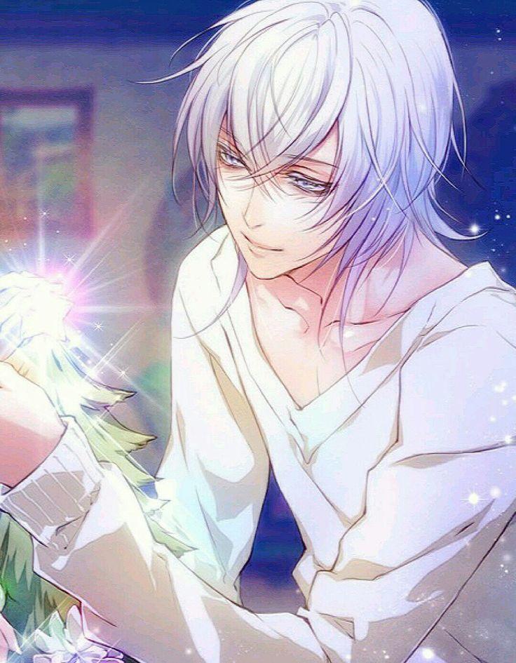 White Haired Yellow Eyes Anime Guy Ecosia In 2020 Anime Boy Hair Anime Guy Blue Hair Cute Anime Guys