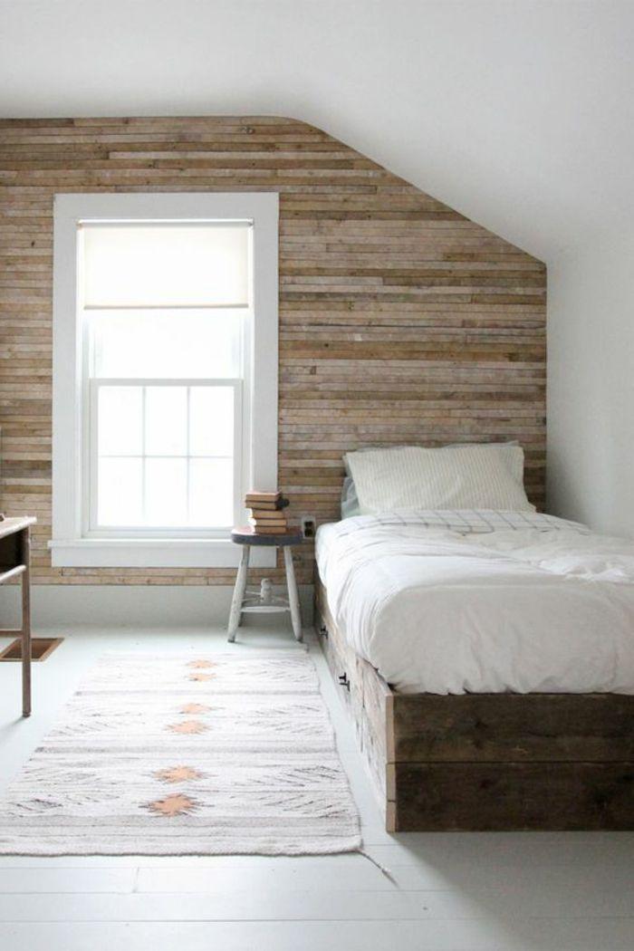 17 meilleures idees a propos de lits en bois sur pinterest With superb palette couleur peinture mur 12 1001 idees deco de chambre sous pente cocoon