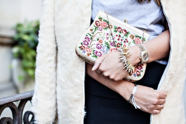 .: Arm Candy, Fashion Details, Pretty Things, Vintage Floral, Beautiful Bags, Floral Purses, Tci Cat, Cat Ladies, Haute Handbags