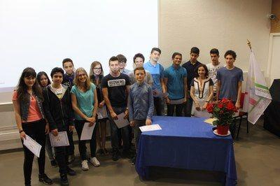 """Remise des diplômes pour la mini-entreprise """"GourVindize"""" — Lycée Le Rebours - Paris 13°"""