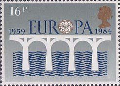 Europa. 25th Anniversary of C.E.P.T. and 2nd European Parliamentary Elections 16p Stamp (1984) C.E.P.T. 25th Anniversary Logo
