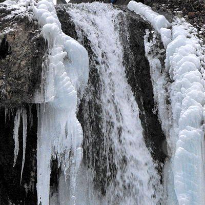 A magyar vízesések akkor is szépek, ha télen befagynak.