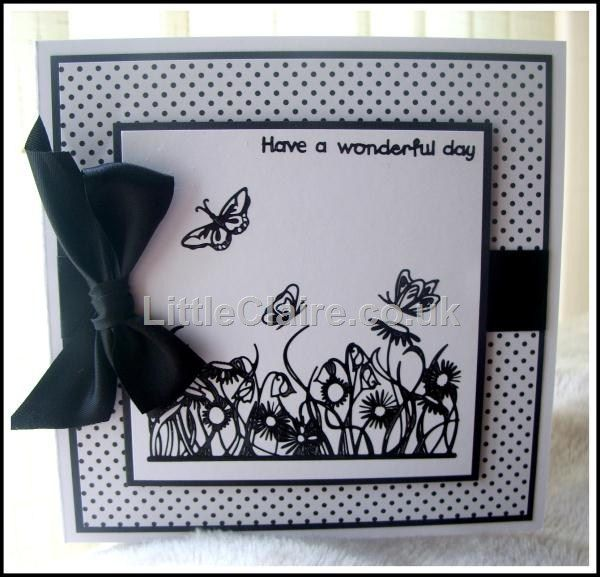 Outline Stickers Floral Border