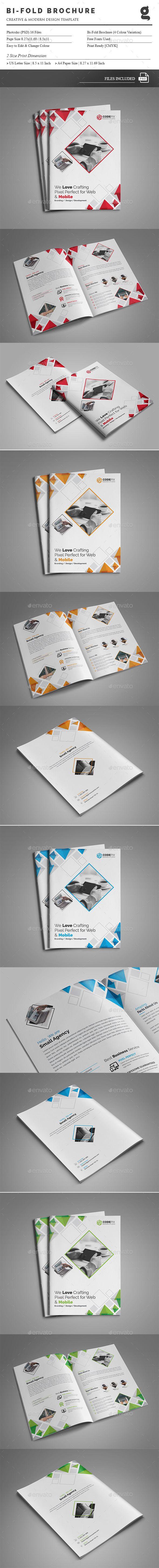 Bi-Fold Brochure - Corporate Brochures | Download: https://graphicriver.net/item/bifold-brochure/18602967?ref=sinzo