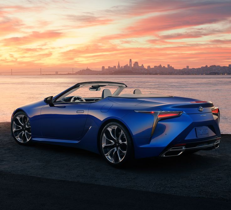 The Lexus LC 500 convertible car is designed to look