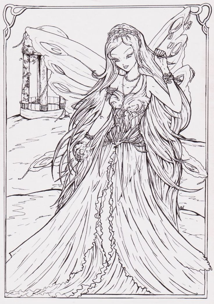 17 Best images about Fairies/Angels coloring pages on ...