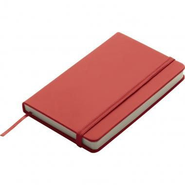 Branded A6 Soft Skin Notebook in Red. Printed spot colours or digitally printed full colour on both or front covers. These soft skin A6 notebooks are best sellers and available in many colours. Plain or Lined pages, Elastic band closure, soft touch and page marker ribbon. These note books feel great and are a very handy and portable size.