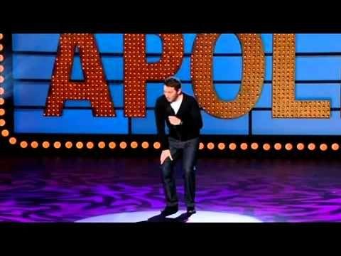 "Jon Richardson Live At The Apollo. ""Who cares where my keys are? Tin foil is shiny!!!"""