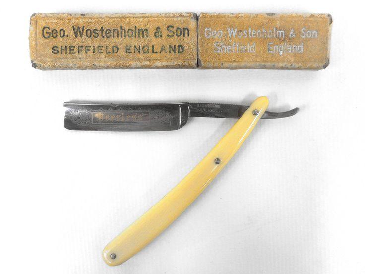 Vintage Wostenholm Sheffield England Peerless Barber Straight Razor with Original Box