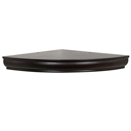 "12"" Radius floating corner shelf"