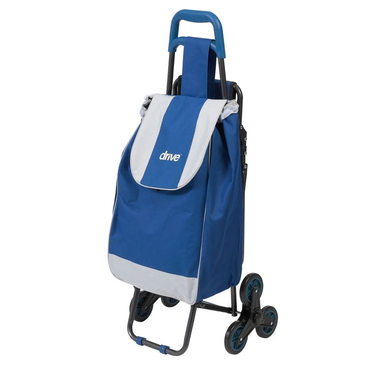 Drive Medical Deluxe Rolling Shopping Cart with Seat