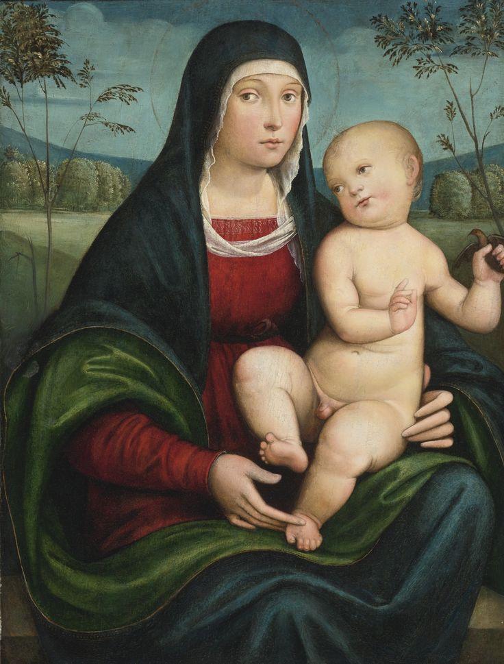 Attributed to Francesco Raibolini, called Francesco Francia (1450-1517)  and Studio  —  Madonna and Child (1519x2000):