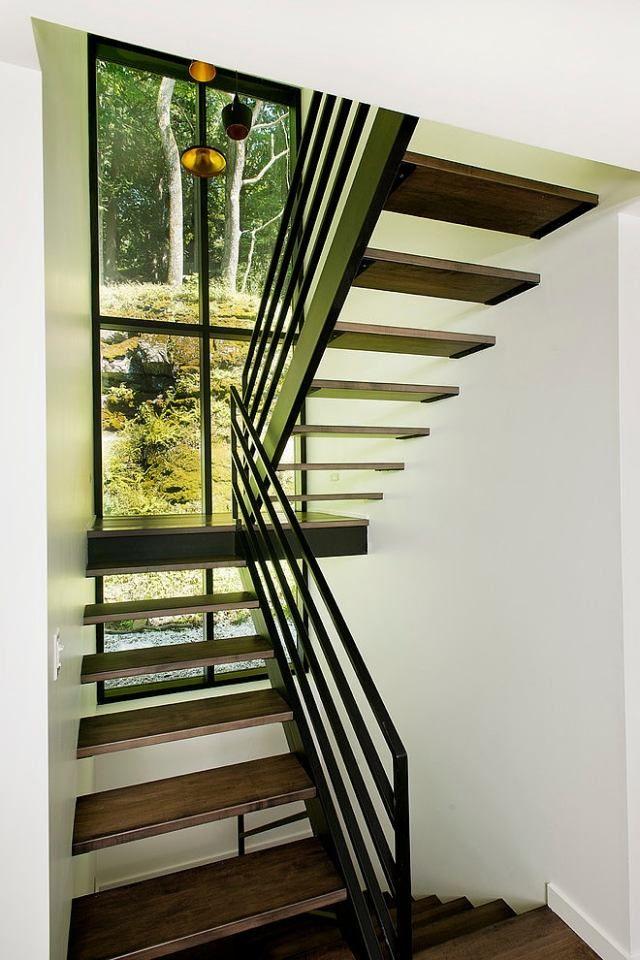 escalier tournant sans contremarches avec paliers intermédiaires