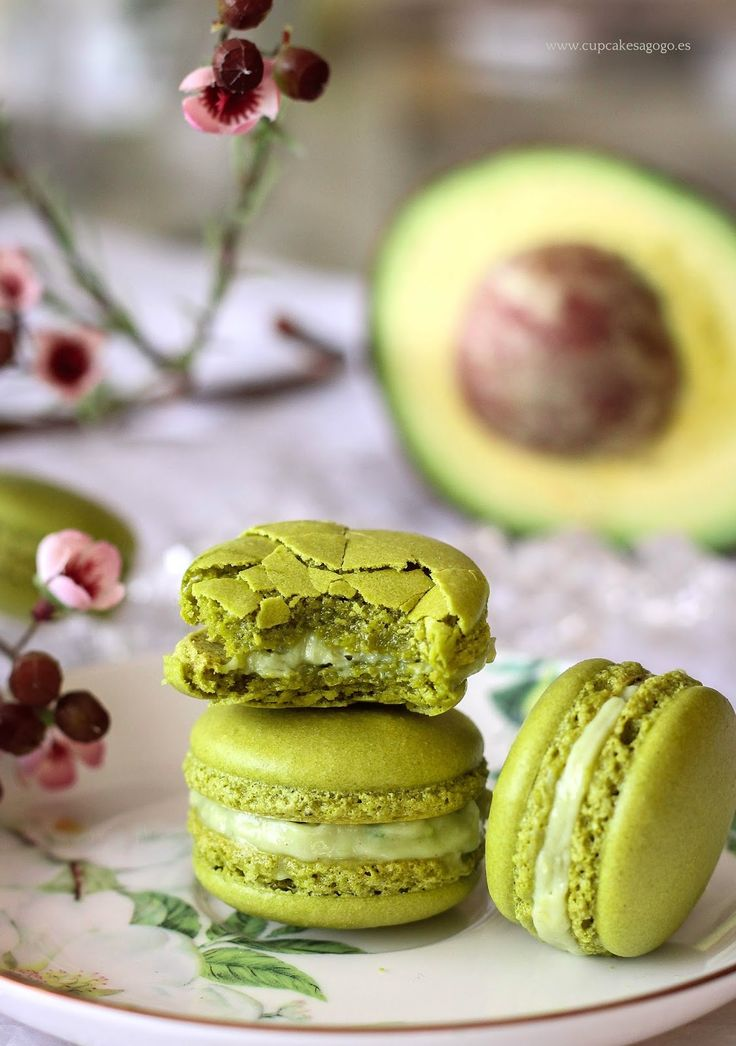 Cupcakes a gogó: Macarons de aguacate