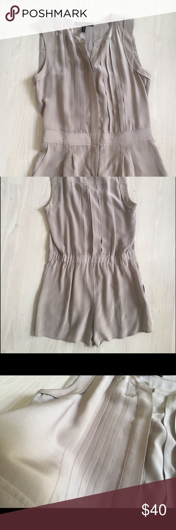 BCBG SILK JUMPSUIT / ROMPER Lovely khaki/nude shorts jumpsuit in silk. Size XS. BCBG Other