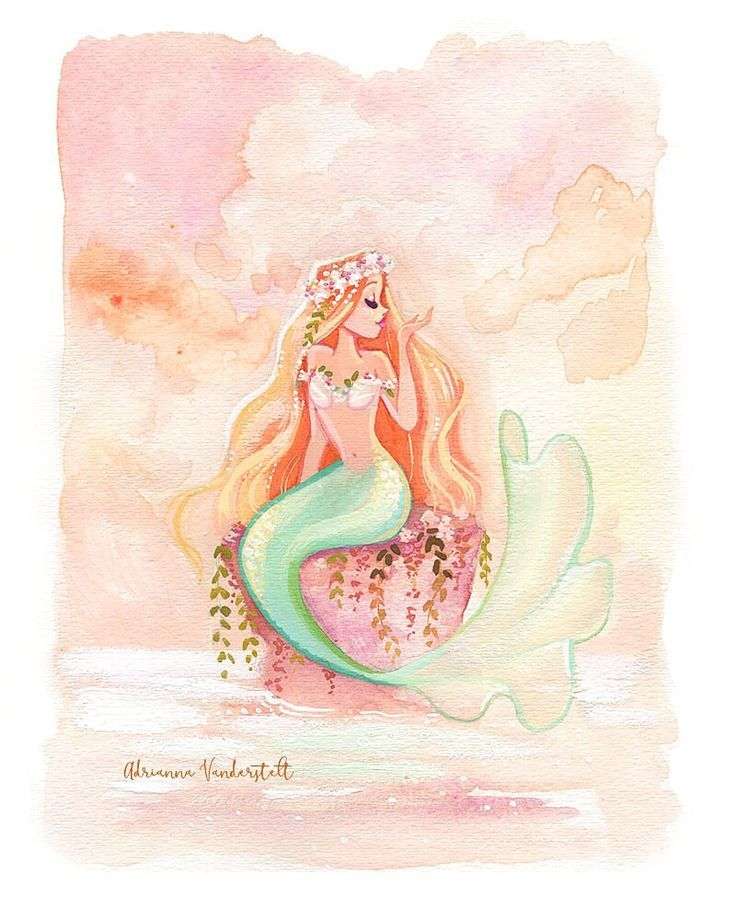 cool   Mermaid art Painted with Gouache paints  CONTINUE READING Shared by: Artb…