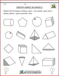 Best 25+ 3d shapes worksheets ideas on Pinterest   2d shapes ...