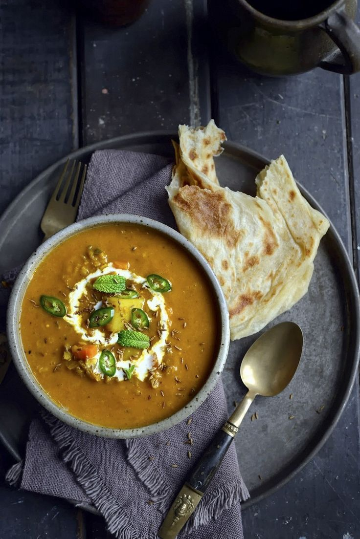 Fragrant Spiced Indian Vegetable and Lentil Soup by Sarah Tuck